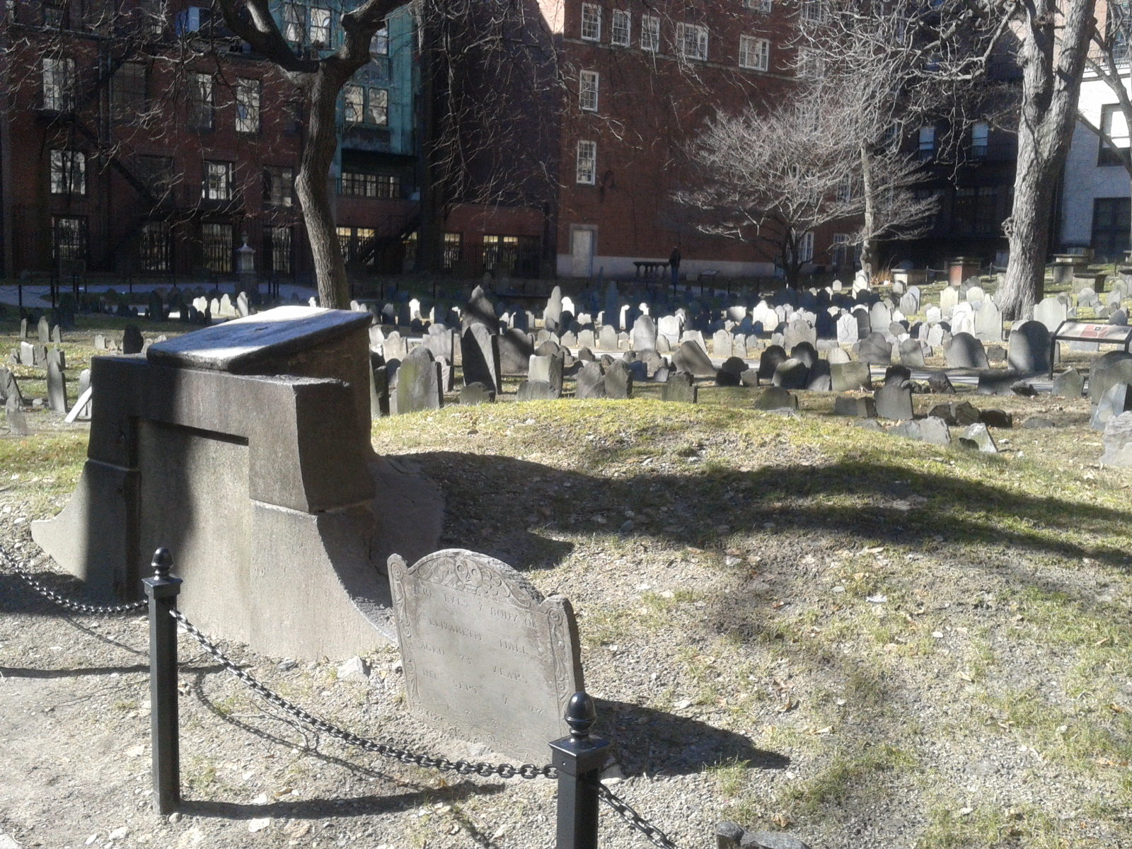 The cemetery where Paul Revere, the Franklins and others rest