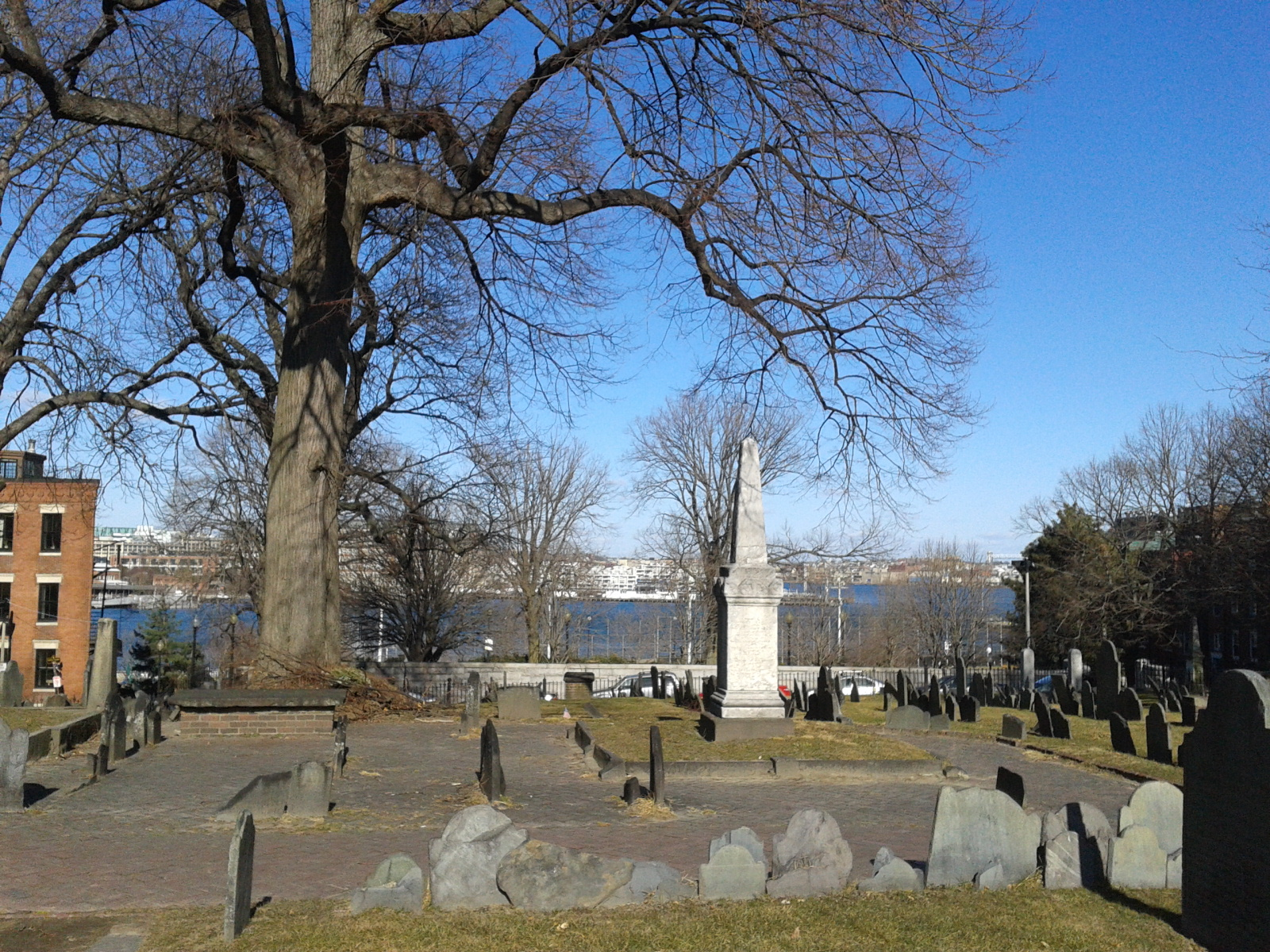 From another cemetery, overlooking the harbor area