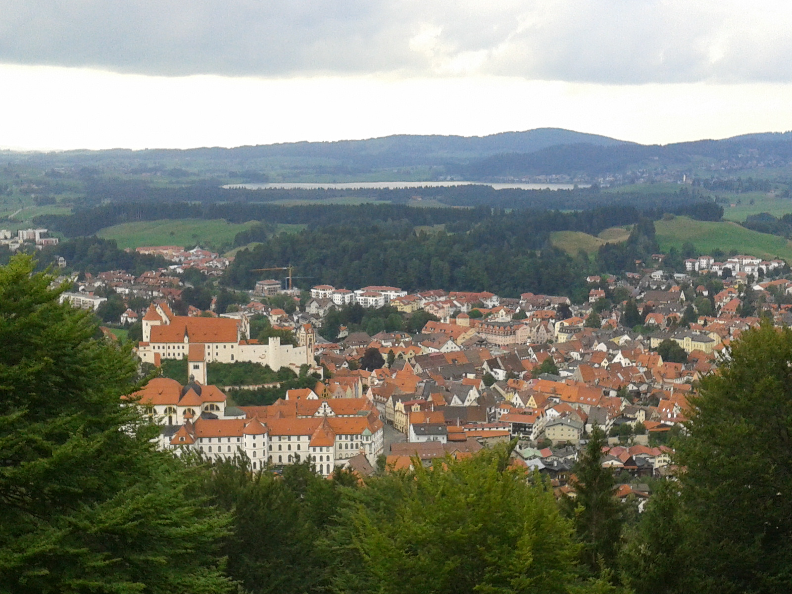 view over Füssen from Kalvarienberg