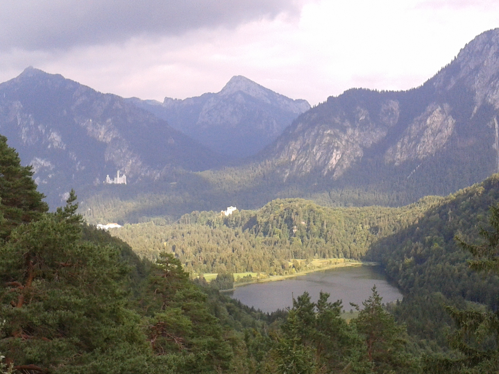 another view of Alpsee and Neuschwanstein