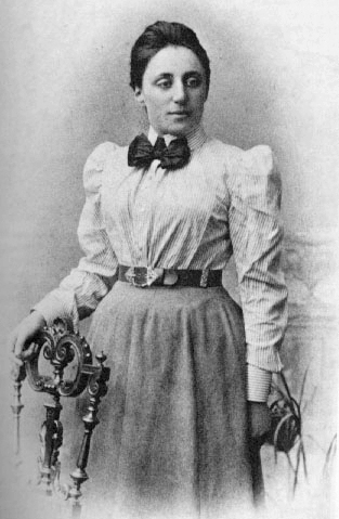 Portrait of Emmy Noether, before 1910.