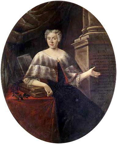 Portrait of Italian mathematician and physicist Laura Bassi (1711-1778) by Carlo Vandi (18th century); source: wikipedia