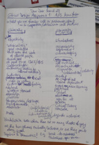 picture of the notes taken